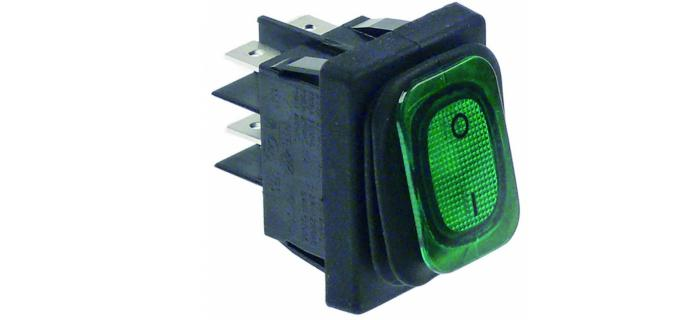 Interruptor basculante medida de montaje 30x22mm verde