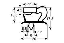 Burlete para frigorífico lainox an 350mm l 675mm