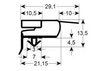 Burlete para frigorífico lainox an 385mm l 660mm
