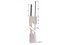 bujía incandescente longitud del cable 100mm empalme ø2,4mm L1 47mm L2 60mm  lainox