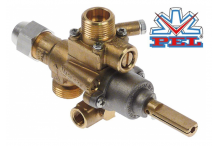 grifo de gas PEL tipo 22S/V entrada gas M20x1,5 (tubo ø 12mm) Electrolux Professional, Zanussi Professional